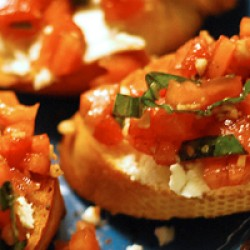 Sheep Cheese Bruschetta